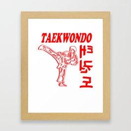 TAEKWONDO gift boxing martial arts Kickboxer Ko Framed Art Print