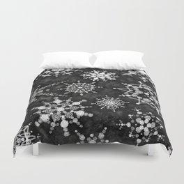 Gray Snowflakes Duvet Cover