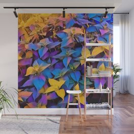 Flourescent Leaves Wall Mural