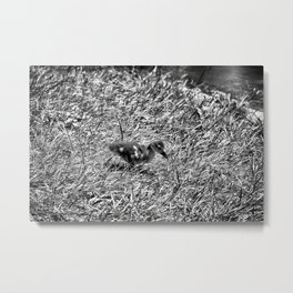 Sad and Lonely - Black & White Metal Print