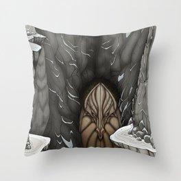 The White Dragon Lair Throw Pillow