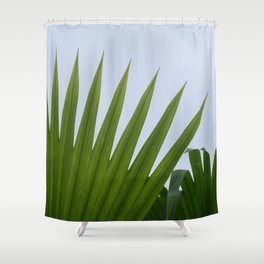 Tropical Palm Fan Shower Curtain
