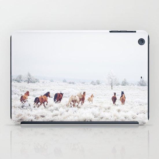 Winter Horses iPad Case