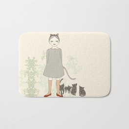 Cat Girl Bath Mat