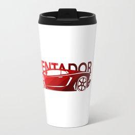 Lamborghini Aventador - classic red - Travel Mug