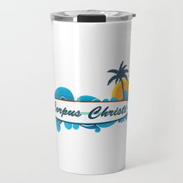 Sparkling City by the Sea. Travel Mug