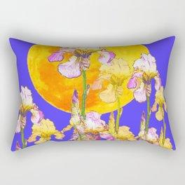 IRIS GARDEN & RISING GOLD MOON  DESIGN ART Rectangular Pillow