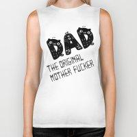 dad Biker Tanks featuring Dad by Jessa