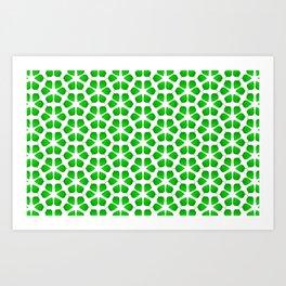 Summer Leaf Green Gradient Vegetation Pattern Art Print
