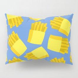 French Fries Pattern Wall Decor Home Art Print Cartoon Poster Yellow Blue Pattern Decoration Pillow Sham