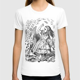 ALICE ATTACKED BY CARDS - JOHN TENNIEL T-shirt