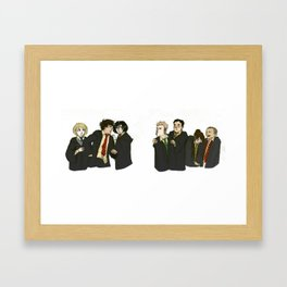 Step it down you two Framed Art Print