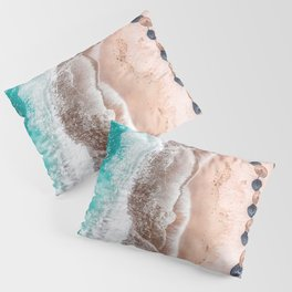 Ocean Print, Aerial Beach Print, Blue Teal Turquoise Sea, Australia Wall Decor, Aerial Beach Print, Beach Photography, Bondi Beach Print Art Print Pillow Sham