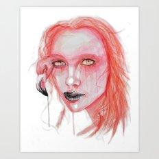 Metamorphosis-flamingo Art Print