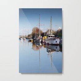 Lydney Harbour Metal Print