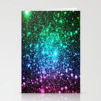 glitter Stationery Cards featuring glitter Cool Tone Ombre by 2sweet4words Designs