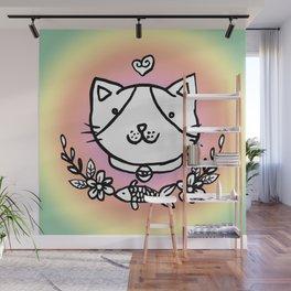 Cat doodles Wall Mural