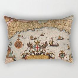 Map Of Genoa 1608 Rectangular Pillow
