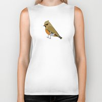 bohemian Biker Tanks featuring Bohemian Waxwing by MLOR graphic designs