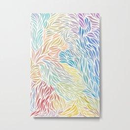 Washed Rainbow Flow Metal Print