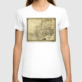 Map of the Midwest United States (c 1840) T-shirt