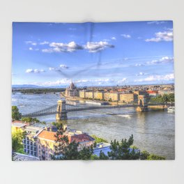 Budapest Cityscape Throw Blanket