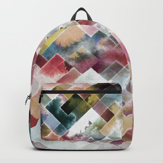 Moody watercolor patchwork Backpack