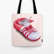 Cat in the Shoe Tote Bag