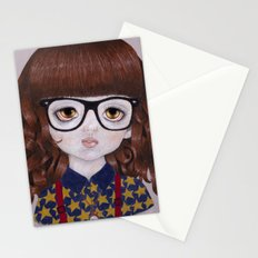 Margot- Hipster Girl Stationery Cards