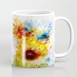 Watercolor Sunflowers Kaffeebecher