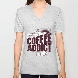 Coffee Addict Unisex V-Neck