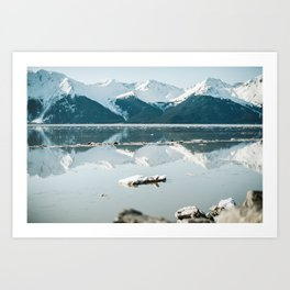 breaking up reflections Art Print