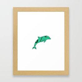 FADED DOLPHIN Framed Art Print