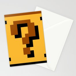 Super Mario question mark block Stationery Cards