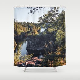 River Views in Minnesota and Wisconsin-Photography Shower Curtain