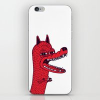 tim shumate iPhone & iPod Skins featuring Angry Tim by Tibia Tibia
