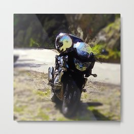 excursion by motorcycle Metal Print
