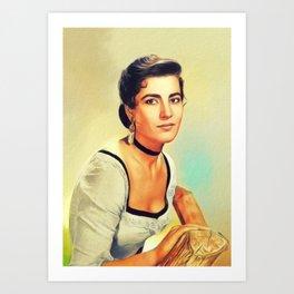 Irene Papas, Vintage Actress Art Print
