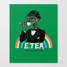 E.Tea Canvas Print