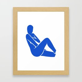 blue nude 3 Framed Art Print