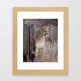He is watching Framed Art Print