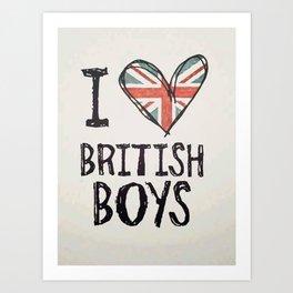 One Direction - I love British boys Art Print