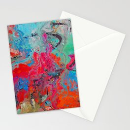 Heaven Rejoices Multi Colored Abstract Luke 15:7 Stationery Cards