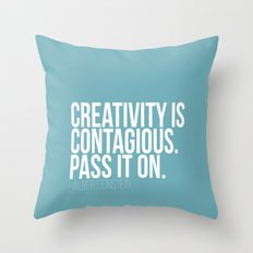 Creativity is Contagious  Throw Pillow