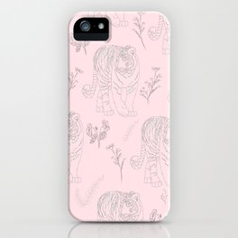 Wildflower Tiger iPhone Case