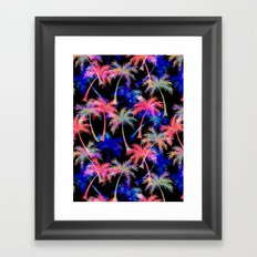 Falling Palms - Nightlight Framed Art Print