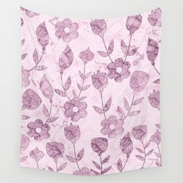 Watercolor Floral VV Wall Tapestry