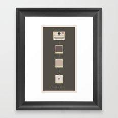 Analog vs. Digital (round I)  Framed Art Print