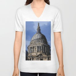 St Paul's Catherdral, London. Unisex V-Neck
