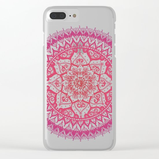 Yin Yang Mandala in Tropical Sunset Clear iPhone Case